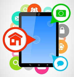 computer tablet applications vector image