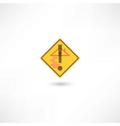 Warning construction vector image vector image