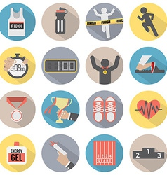 Flat Design Run Icon Set vector image vector image