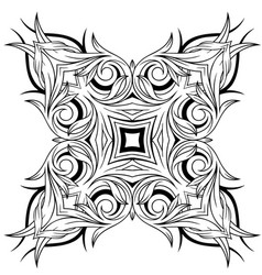 graphic decorative tattoo design vector image vector image
