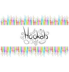 hookah abstract vector image vector image