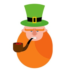 leprechaun with Red Beard Portrait of angry vector image vector image