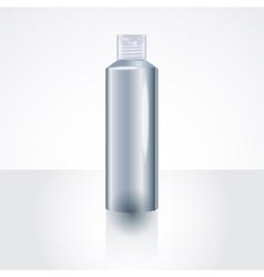 Plastic Shampoo Bottle Package MockUp Template vector image vector image