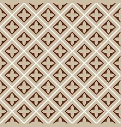 seamless brown beige tile pattern vector image vector image