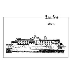 tower of london architectural symbol beautiful vector image vector image
