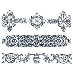 vintage border frame filigree engraving with vector image