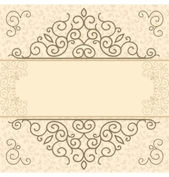 Vintage card with space for text vector image vector image