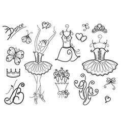 ballet design elements vector image
