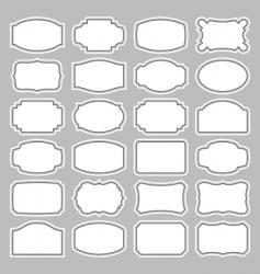 blank labels set vector image