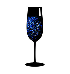 champagne blue black glass vector image
