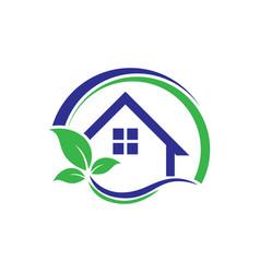 circle home real estate logo vector image vector image