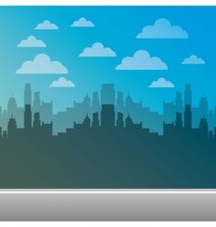 cityscape pixelated isolated icon vector image