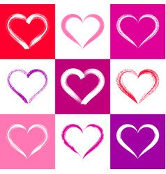 colorful valentine card with hearts vector image vector image
