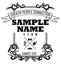 creativ people connection vector image vector image