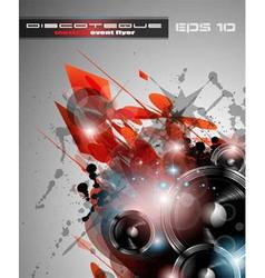 Disco DJ party vector image vector image