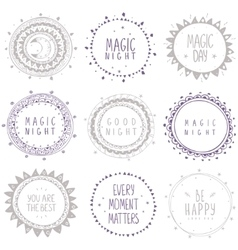 ethnic circle set vector image vector image