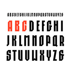 narrow sanserif font in sport style vector image vector image