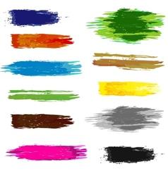 Set of artistic brush vector image