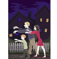 zombie family vector image vector image
