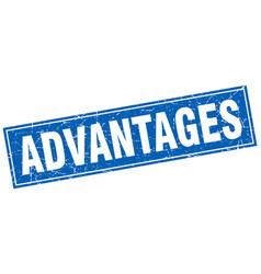 Advantages square stamp vector