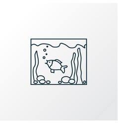 aquarium icon line symbol premium quality vector image