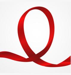 Awareness red ribbon vector