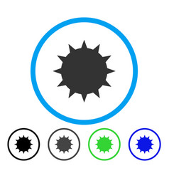 Bacterium rounded icon vector