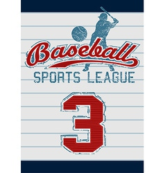 Baseball sports league vector image