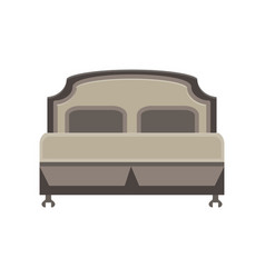 bed icon bedroom room hospital isolated furniture vector image