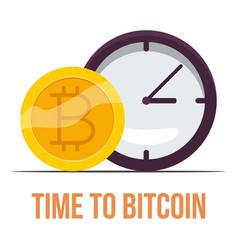 bitcoin icon cartoon style vector image