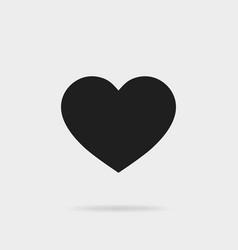 black heart shapelike icon social media icon vector image