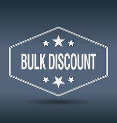Bulk discount hexagonal white vintage retro style vector