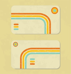 Business retro card vector