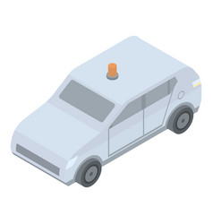 Car with flashing light icon isometric style vector