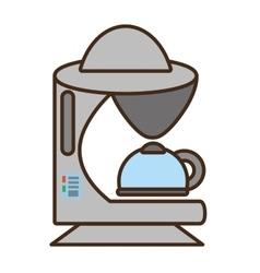cartoon coffee machine appliance kitchen vector image