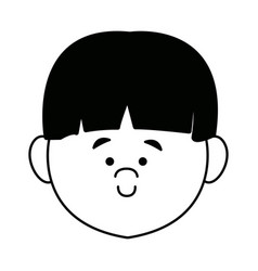 Cartoon profile boy little avatar people young vector