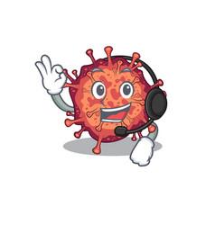 Charming contagious corona virus cartoon vector