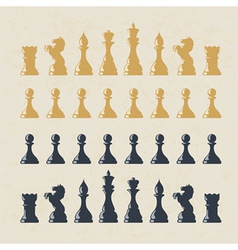 Chess figures collection vector