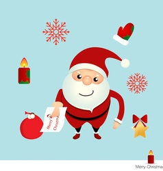 Christmas Greeting Card with Christmas Santa Claus vector