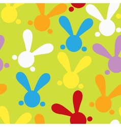 Colorful seamless patern with easter bunny vector image