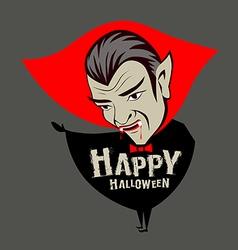 Count Dracula vampire character vector
