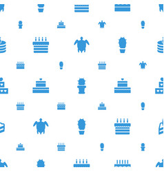 Desert icons pattern seamless white background vector