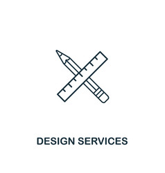 Design services icon thin outline style from vector