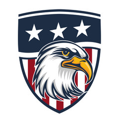 eagle made in usa united states america logo vector image