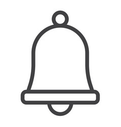 easter bell line icon easter and holiday vector image