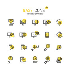 Easy icons 41d internet earnings vector