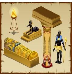 egyptian symbols ancient civilization big set vector image