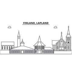 finland lapland line skyline vector image