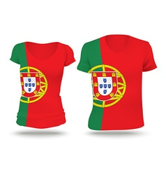 Flag shirt design of Portugal vector image