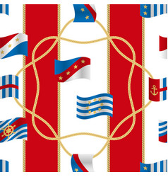 Flags and cords fashion seamless pattern vector
